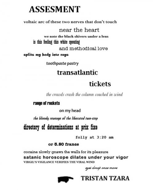 Three Poems by Tristan Tzara - Exchanges: Journal of